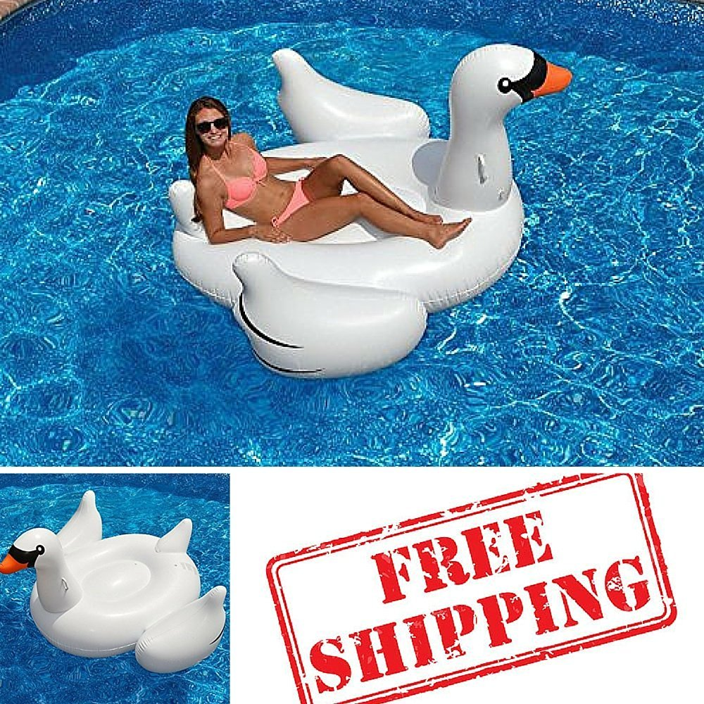 Pool Toys For Kids,Swan Pool Float,Inflatable Swan,Giant Inflatable Swan,