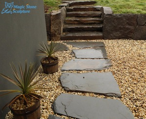 outdoor slate stepping stones for gardening