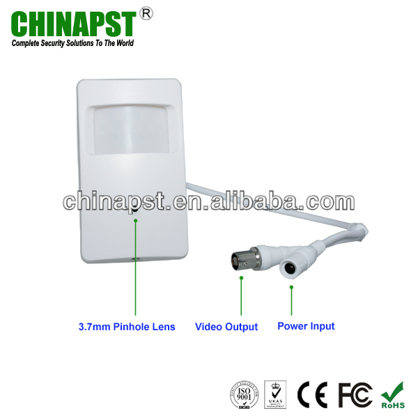 "White 1/3"" Sony 600TVL Color PIR Pinhole Security Equipment Camera Close Circuit Television PST-HC101D-1"