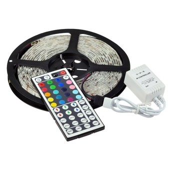 16.4ft SMD 5050 waterproof 300leds RGB flexible led strip light lamp kit + 44key IR remote controller color rgb led strip light