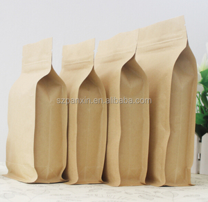 Recyclable Tea/Candy/Cereals kraft paper bag with logo print