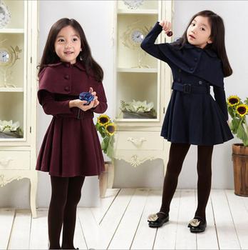 DL20044F 2017 korea gaya gadis gaun musim dingin wol coats untuk lutut  panjang gadis panjang mantel 10dbe0672e
