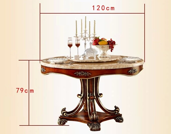 European Style Luxury Dining Set, Round Dining Table And