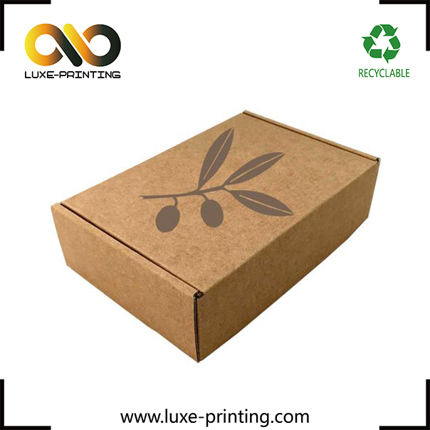 Custom made shipping / moving / mailing / storage corrugated cardboard paper box packaging