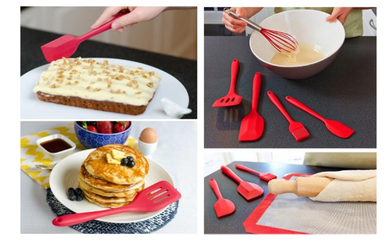 Silicone Kitchen Utensil Set,10pcs/set Silicone tools In Kitchen