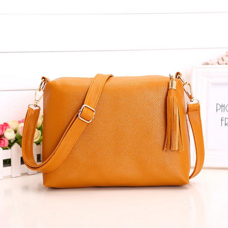6bedb73b7f9 Get Quotations · Brand designer women bag soft leather fringe crossbody bag  shoulder women messenger bags desigual candy color