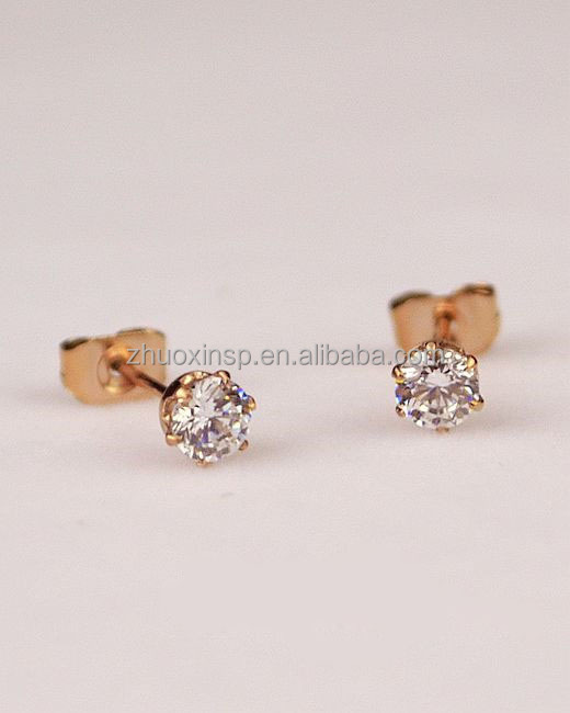 Modern Design Earring Fashion Accessories Gold Double Pearl Earrings