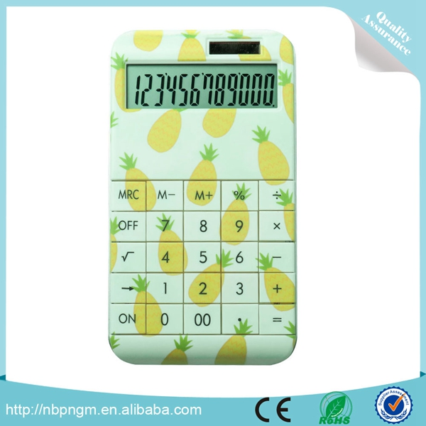Full Color Printed Calculator with Customized Logo Printing Desktop Calculator