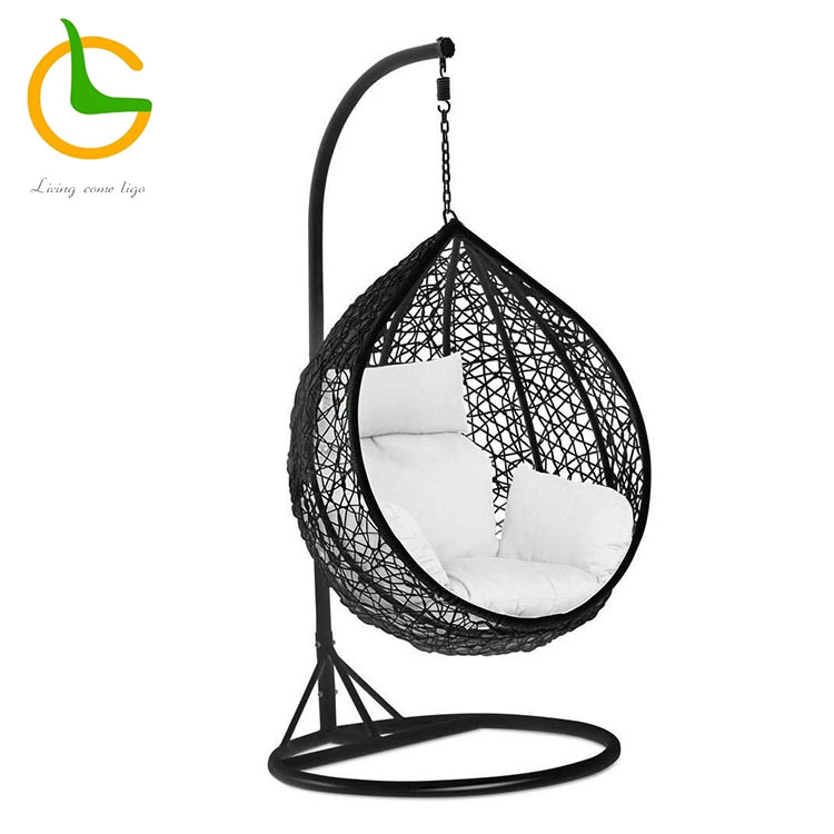 Swing Egg Stoel.Used Metal Adult Bamboo Rattan Wicker Outdoor Balcony Patio Swing
