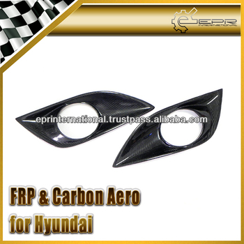 For Hyundai Veloster Turbo Gamma Carbon Fiber Front Fog Light Cover (Turbo)