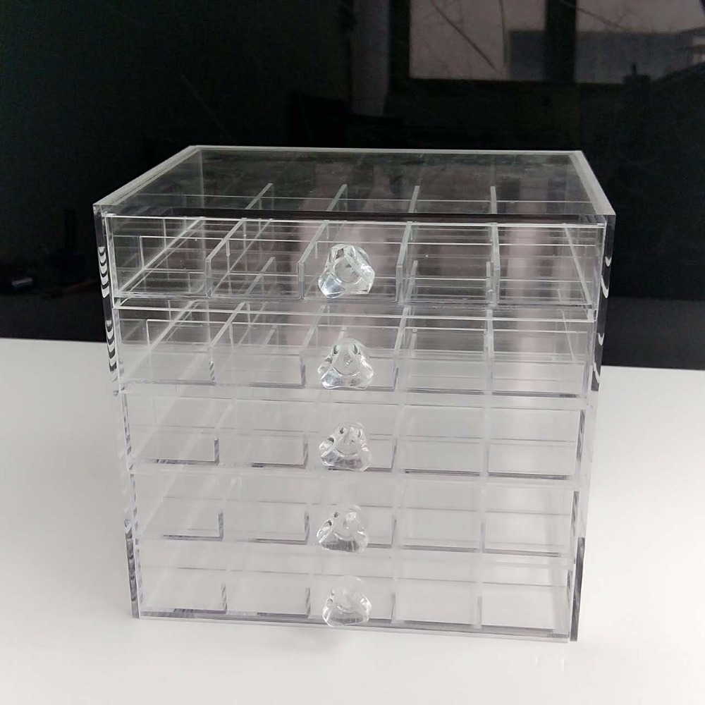 New Acrylic Cosmetic Makeup Organizer drawers Display Case