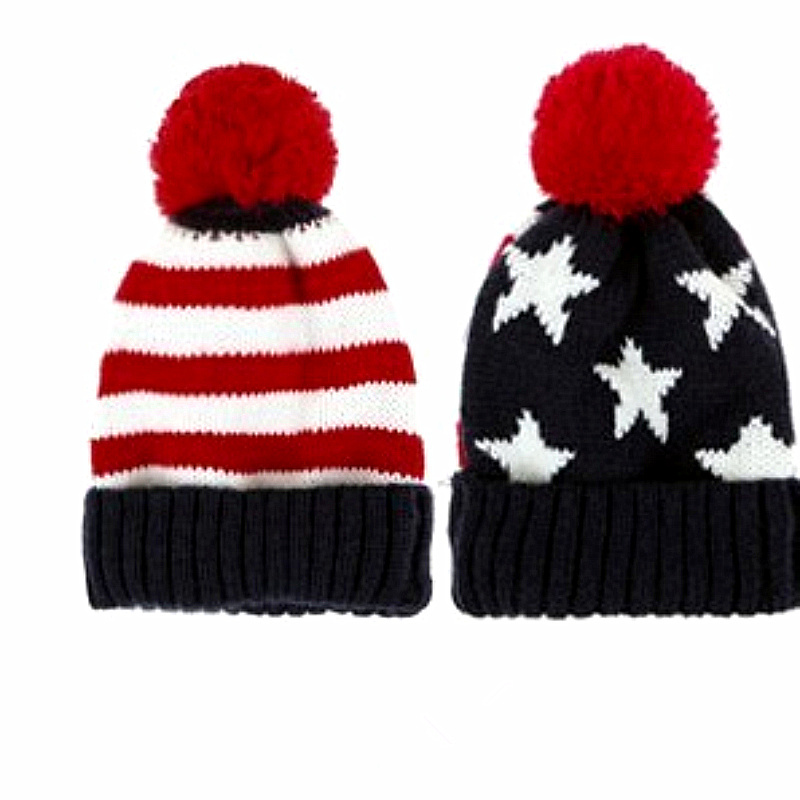Get Quotations · Lovers American Flag Sphere Wool Knit Autumn Winter Cap  Women Knitted Winter Hats For Women Beanie 7a44a87962e