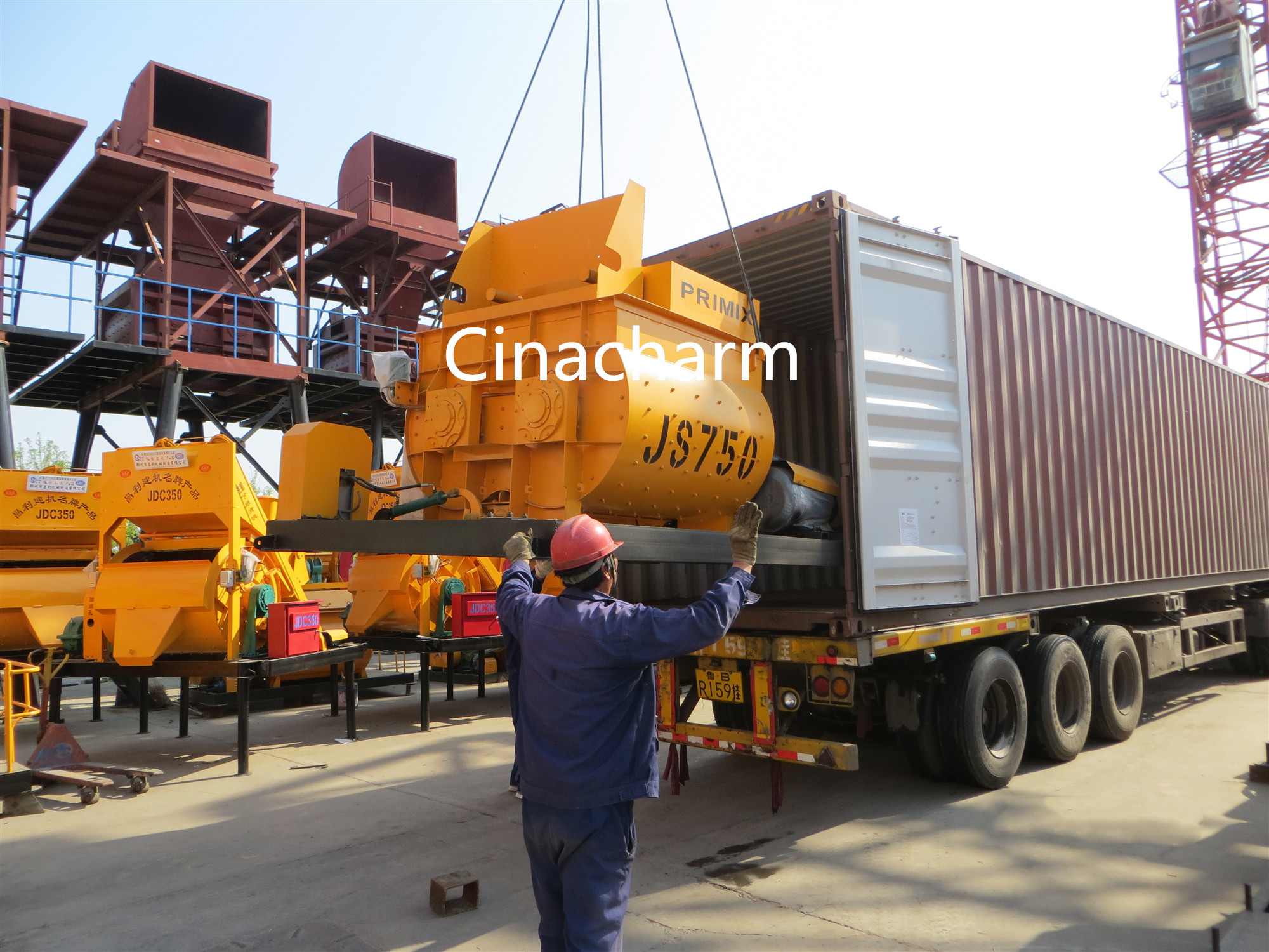 Hzs25 High Performance Concrete Batching Plants Fixed