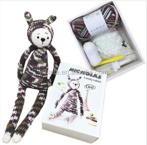 Lovely rabbit toy DIY crochet yarn kit for kids