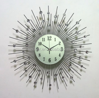Fashion creative modern simple large metal decorative wall clock for living room with European style design