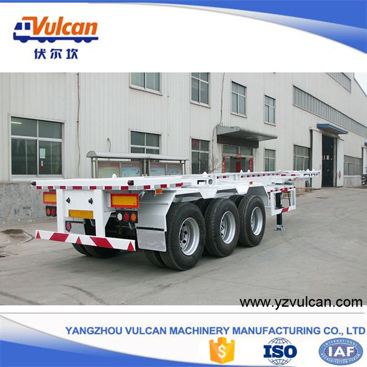 Factory price 40ft container skeleton semi trailer chassis