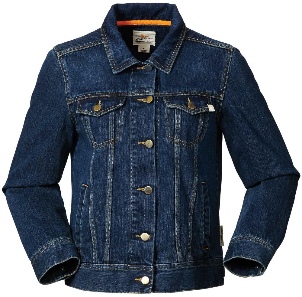 Wholesale Denim Jacket Women Dark Blue Oversized Plain Denim ...