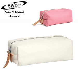 Hot popular cheap portable canvas zipper pouch small cosmetic pouch