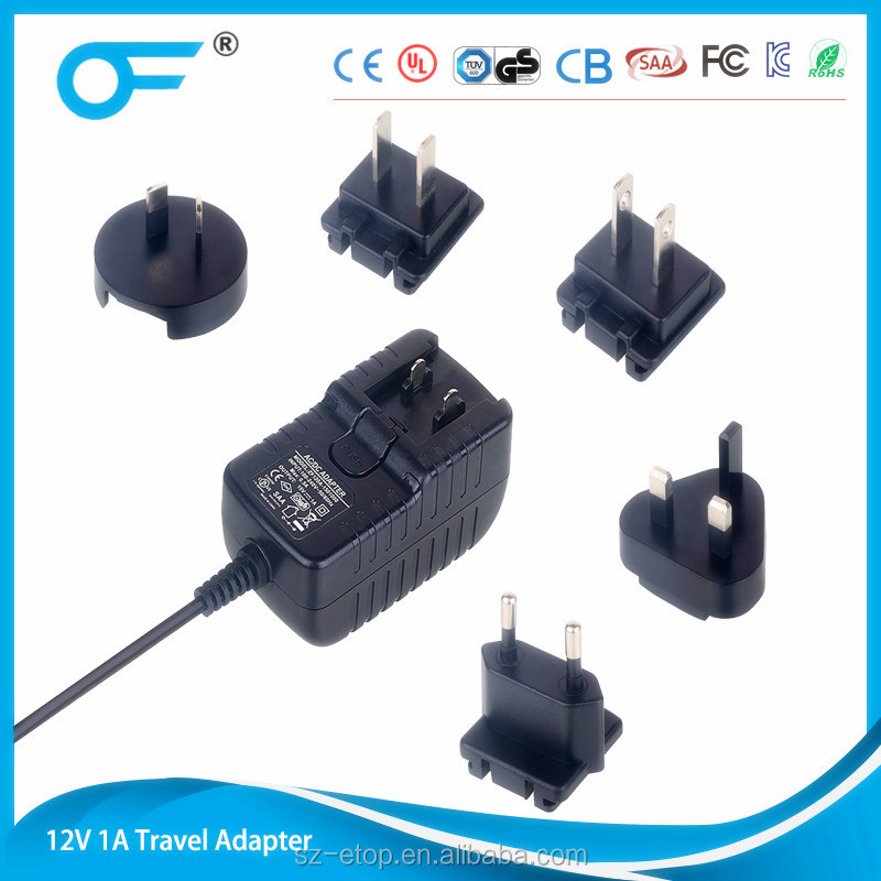 12V1A 9V1A 5V2A ac switching power plug adapter for a variety of electronic products