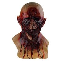 Bleeding rotten zombie for halloween decoration latex mask