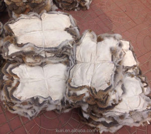Luxury stuff leather rabbit real fur cheap and good quality Garment Textile accessories material rabbit fur skin
