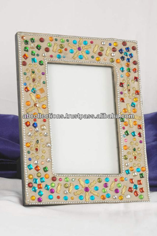 wooden mirror picture frame