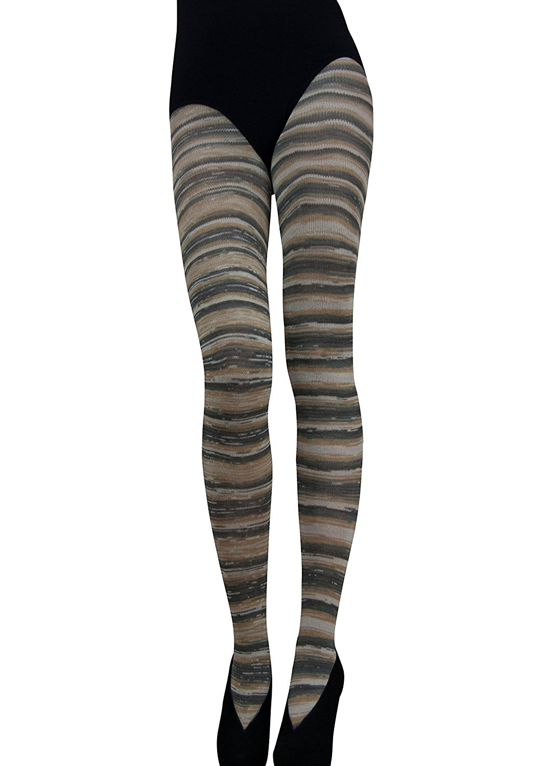 5eb497519f090d Get Quotations · Cecilia de Rafael Rhodesia Striped Tights - Hosiery Outlet