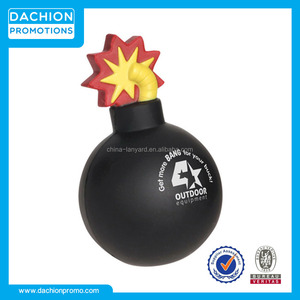 Advertising Bomb With Fuse Stress Ball/Bomb With Fuse Stress Toy/Bomb With Fuse Stress Reliever