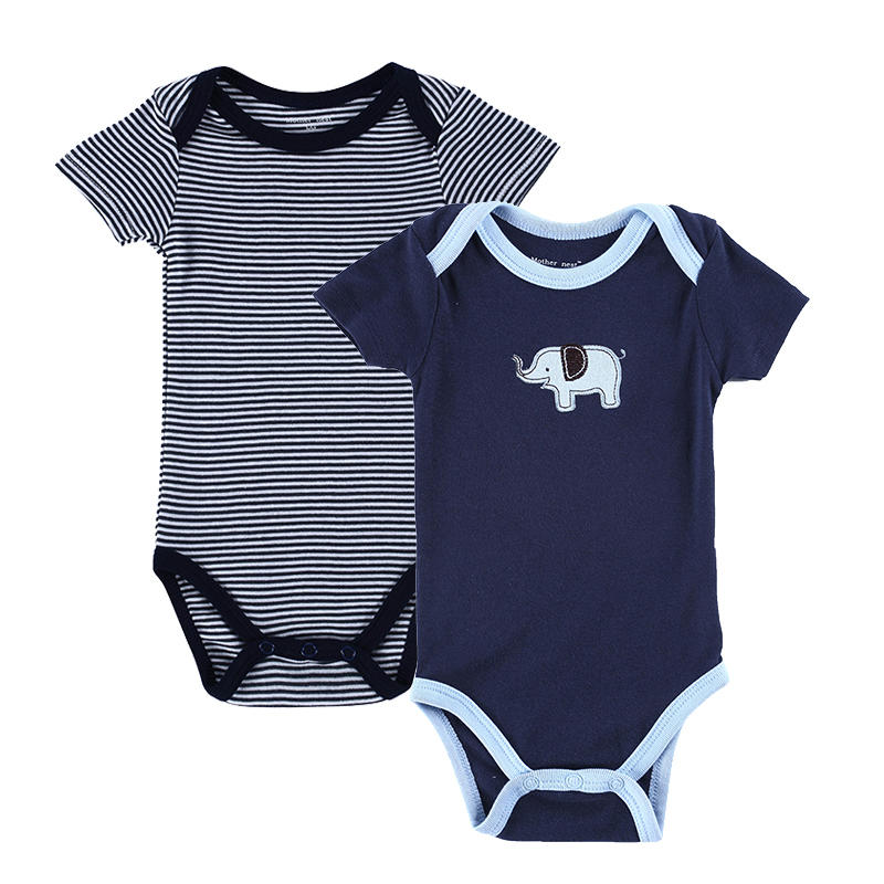 64be77189e0 Get Quotations · Fashion Style 2 pcs lot Baby Boy Clothes Babies Jumpsuit  Kids Cartoon Short Sleeve Baby