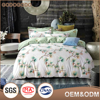 Home Textile High Quality 200Tc Bedding Sheets Soft Custom King Size Luxury 100% Cotton Bedding Sets