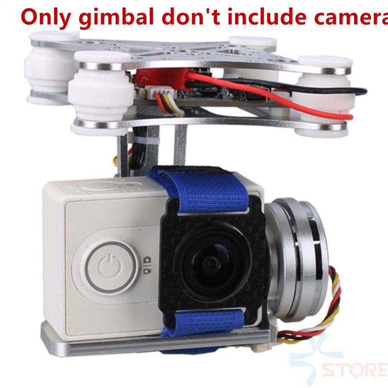 3U-80515 2 Aixs 2D Brushless Camera Gimbal for Action Camera F450 F550 S500 FPV Drone Multirotor Quadrocopter