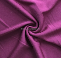 weft knitting double-faced two-sided nylon spandex polyester cotton wool brushed stretch fabric for clothes garments wear shirt