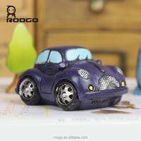 Roogo wholesale resin garden ornaments miniture vintage blue purple car