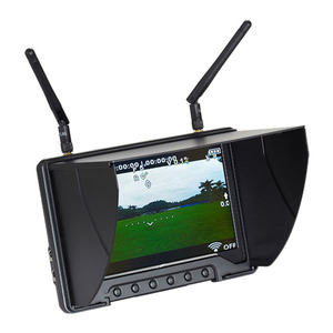 Flysight Black Pearl 7inch HD diversity rc monitor HDMI dc out for walkera devo 5.8 ghz