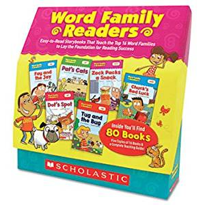 Word Family Readers Set, 80 Books/16 Pages And Teaching Guide, Grades K-2