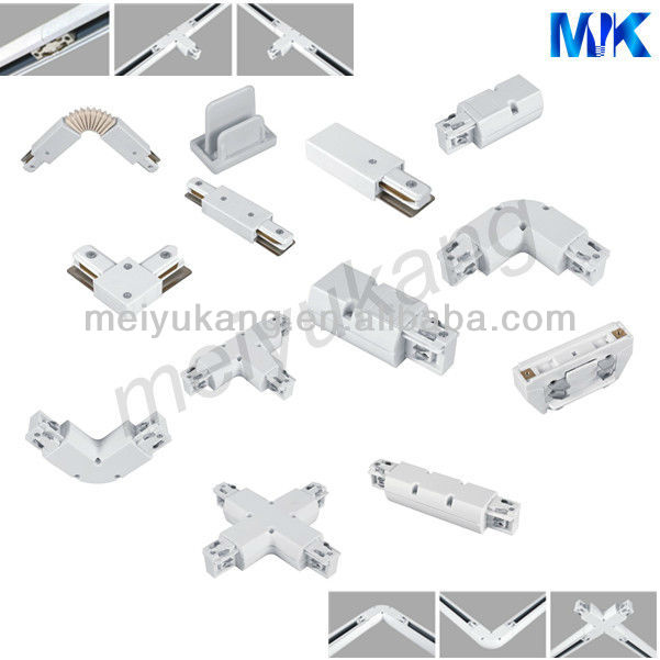 Round Square 1m 1 5m 2m 3m 4 Wire Track Lighting Rails 3 Phase 4 Line Flexible Connector Buy 4 Line Flexible Connector 4 Wire Track Light Rail Led