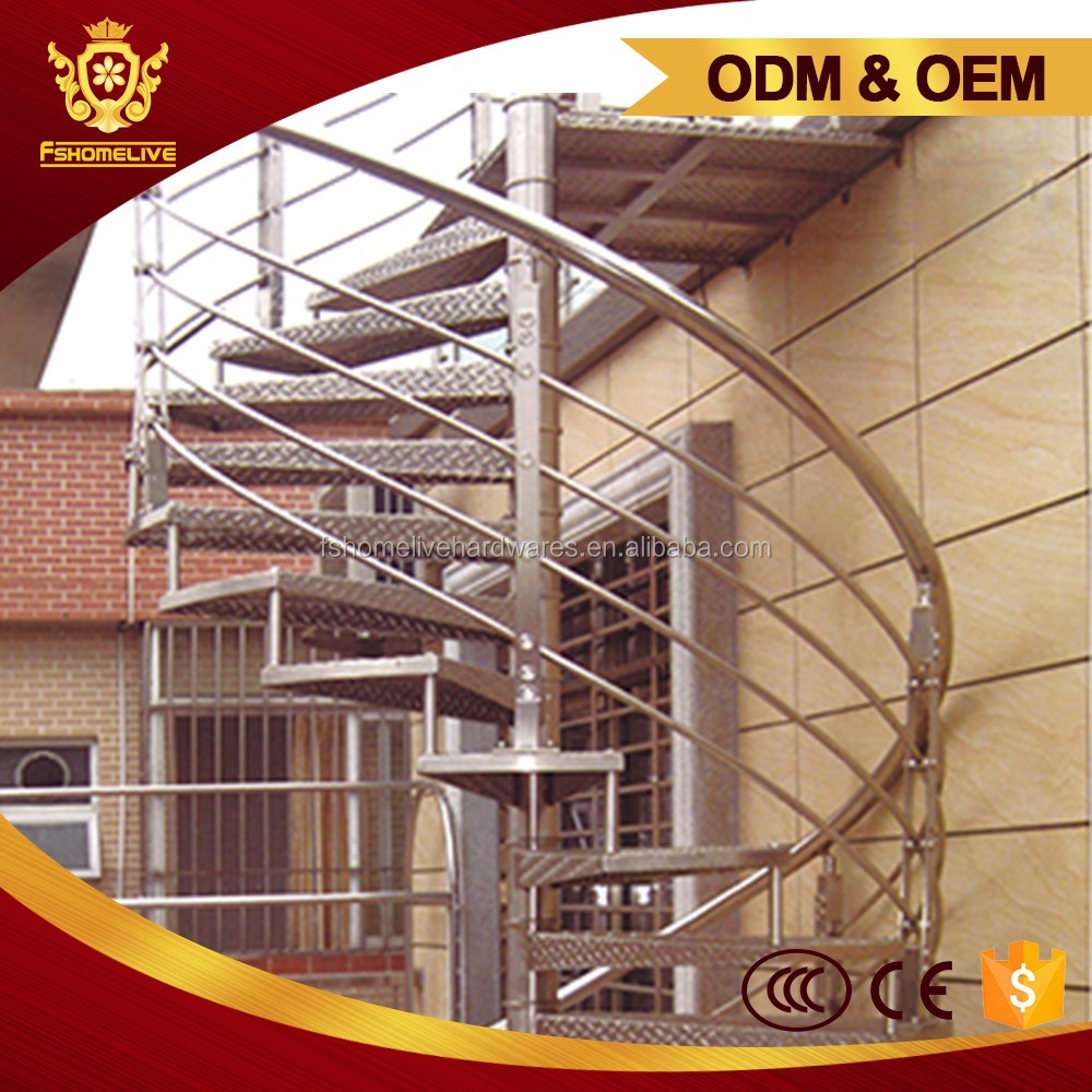 Exterior Stairs Designs Stainless Steel Metal Ss Spiral Stair