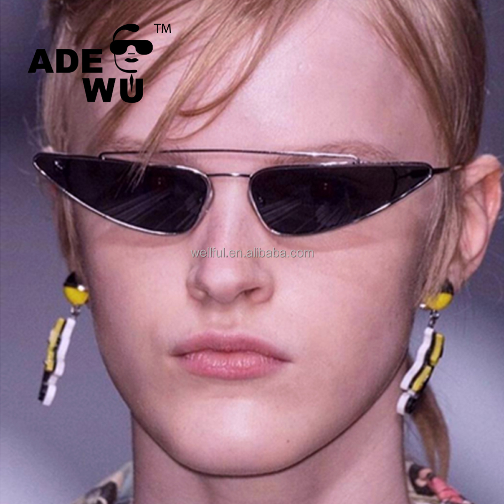 Men Womens cateye Lens Women Tinted Wu Buy Cateye Retro Triangle Eyewear Sunglasses Small Metal Sty98301yd Sunglasses Fashionable Ade 2018 uTPkOXiZ