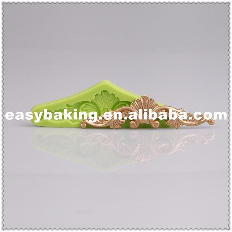 Baroque Vintage Cake Rim Decorate Silicone Fondant Molds ES-6001