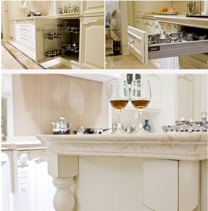 Diseño Americano Mdf Gabinete De Cocina Lacado Blanco Cocina Modular ...