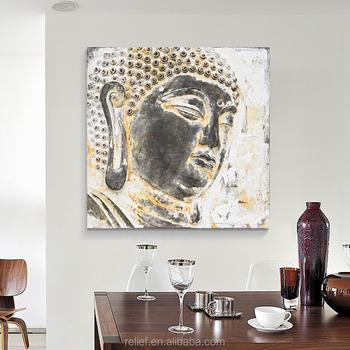 high quality big size cm d buddha wall art buddha head painting