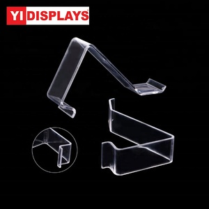Clear L- shape Acrylic Shoes shelf store display rack shoes display props
