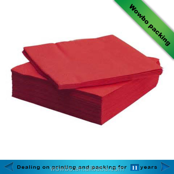 hot selling red fancy cheap paper printed color dinner napkin paper