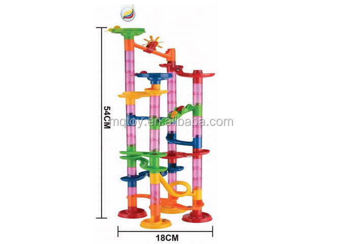 Rolling ball block track toy Plastic Marble Run Educational game Building track puzzle game