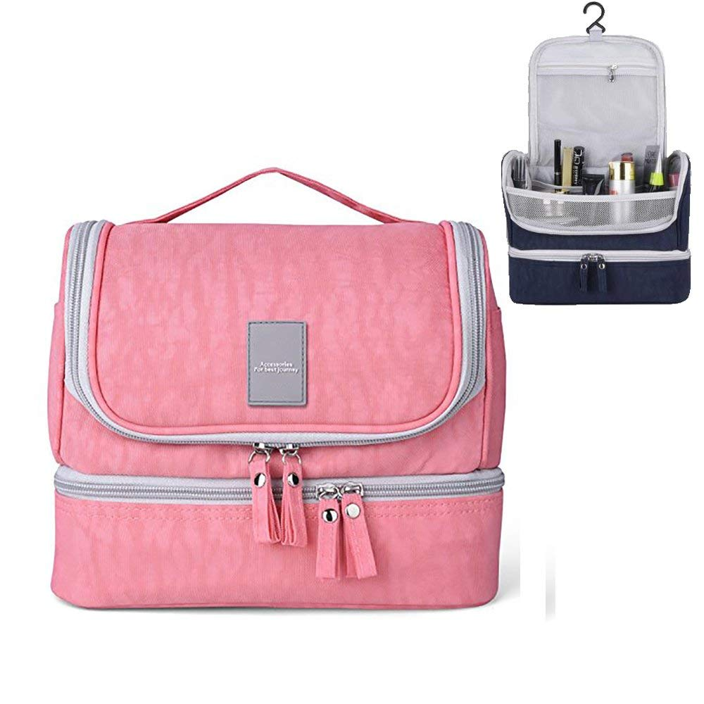Get Quotations · Lemoncy Hanging Toiletry Bag Cosmetic Bag Toiletry Kit  Large Capacity Travel Bag for Women Girls Men 33df6f196afd3