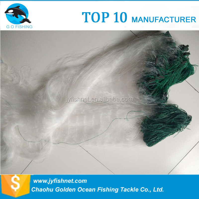 Crazy Selling Fishing Nylon Monofilament Three Layer Gill Nets <strong>scrap</strong>
