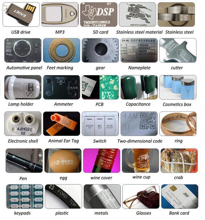2018 innovative product desktop type logo laser printing machine for metal plastic