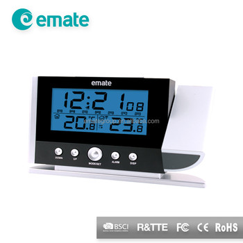 Rotating Arm Projection Clock With Indoor Outdoor Temperature Buy