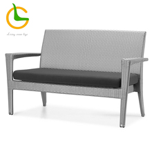 High quality movable cushion 2 seater sofa with rattan seat LG09-6011