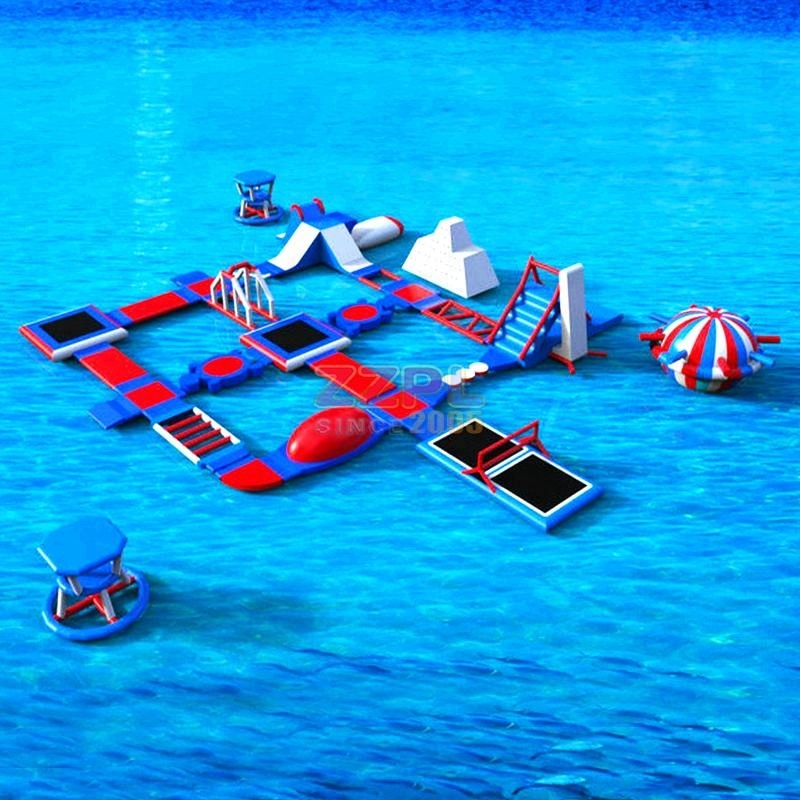 ZZPL inflatable floating water park obstacle/assault course on lake/water for sale